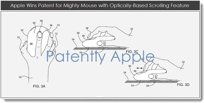 5. Apple wins mighty mouse patent for optically based scrolling feature