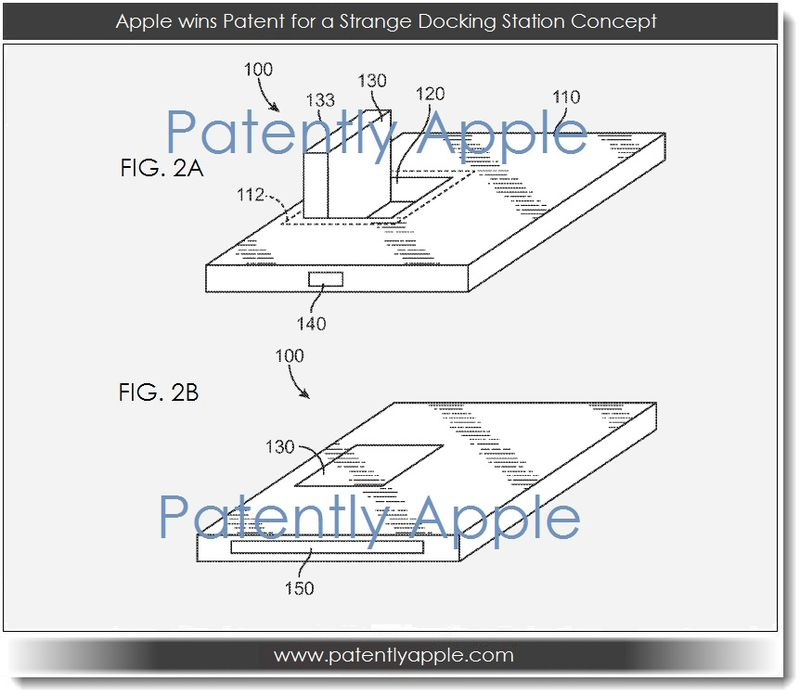 2. Apple Wins Patent for a strange docking station concept