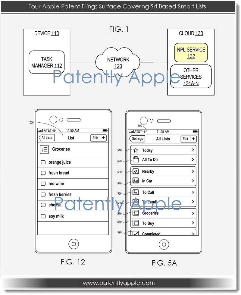 2. Four Apple Patent Filings Surface Covering Siri-Based Smart Lists