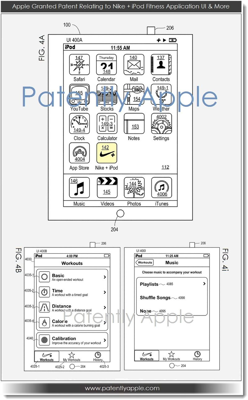 2. Apple granted patent for Nike + iPod fitness app  UI & More