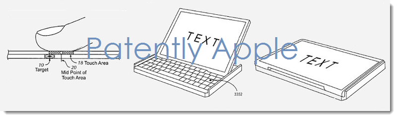 2. Images from Apple's granted patent on a hybrid notebook-tablet