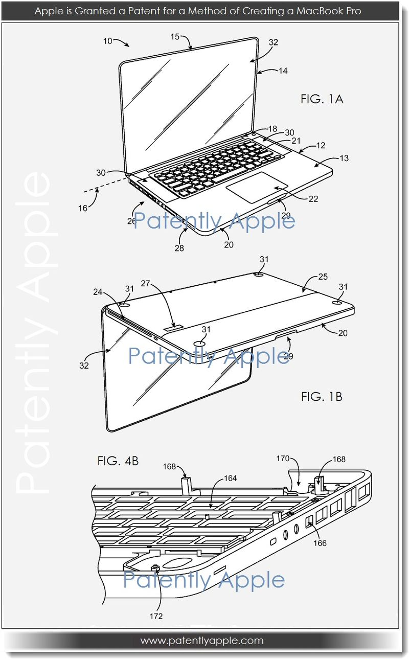 2. Apple granted patent - method of creating MacBook Pro