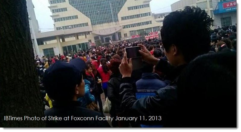 Foxconn Strike Jan 11, 2013
