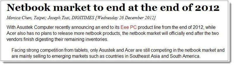 20. Bye-Bye Netbooks