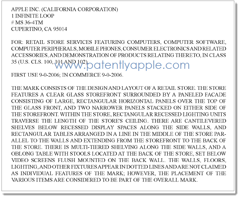 Enlargement of Legal Coverage in Apple's RTM for Apple Store design