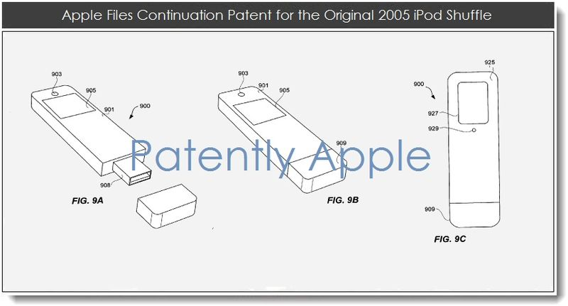 4. Apple files continuation patent on the original iPod Shuffle