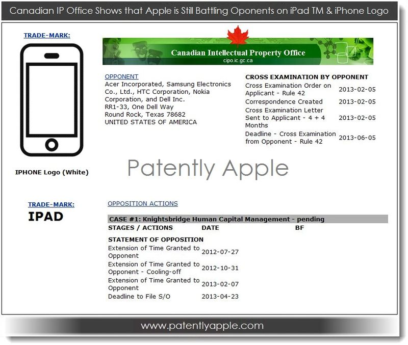 3. Apple still battling oponents on iPad & iPhone in Canada Feb 2013