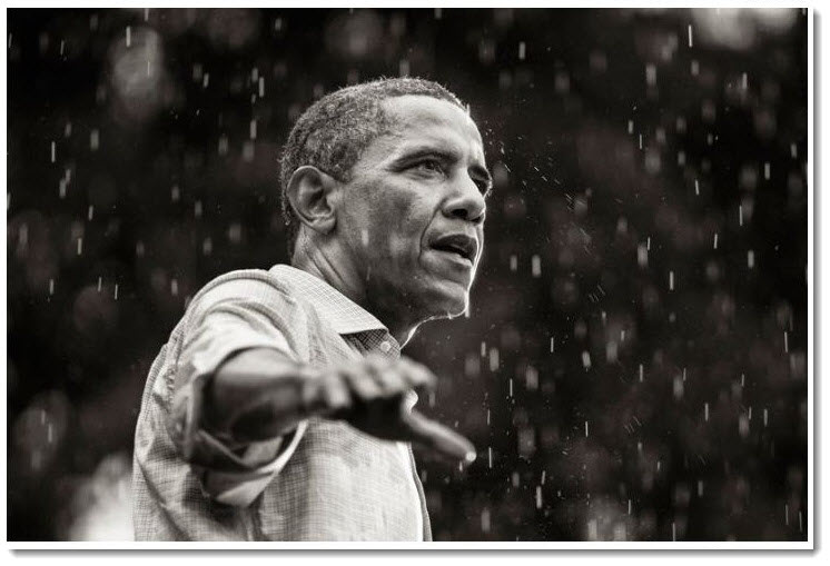 18. Obama Trying out for Singing in the Rain