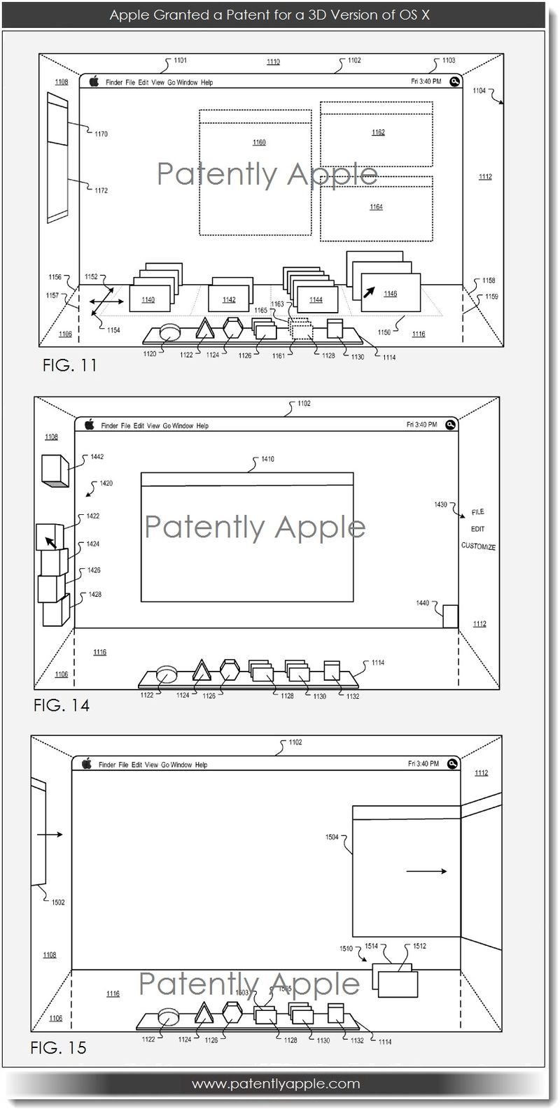 2A Apple granted a patent for a 3D version of OS X