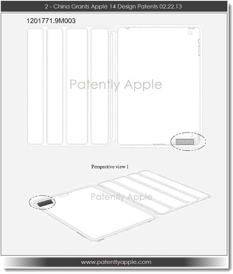 3. China Grants Apple 14 Design Patents 02.22.13
