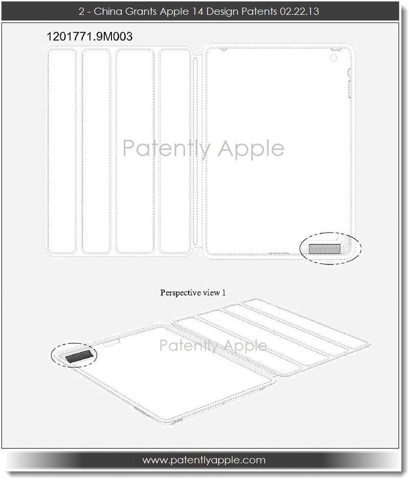 3. China Grants Apple 14 Design Patents 02.22.13