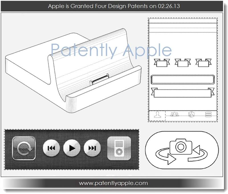 3. Apple is granted four design patents in 02.26.13