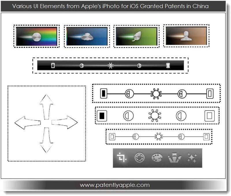 7. various UI Elements from Apple's iPhoto for iOS Granted Patents in China