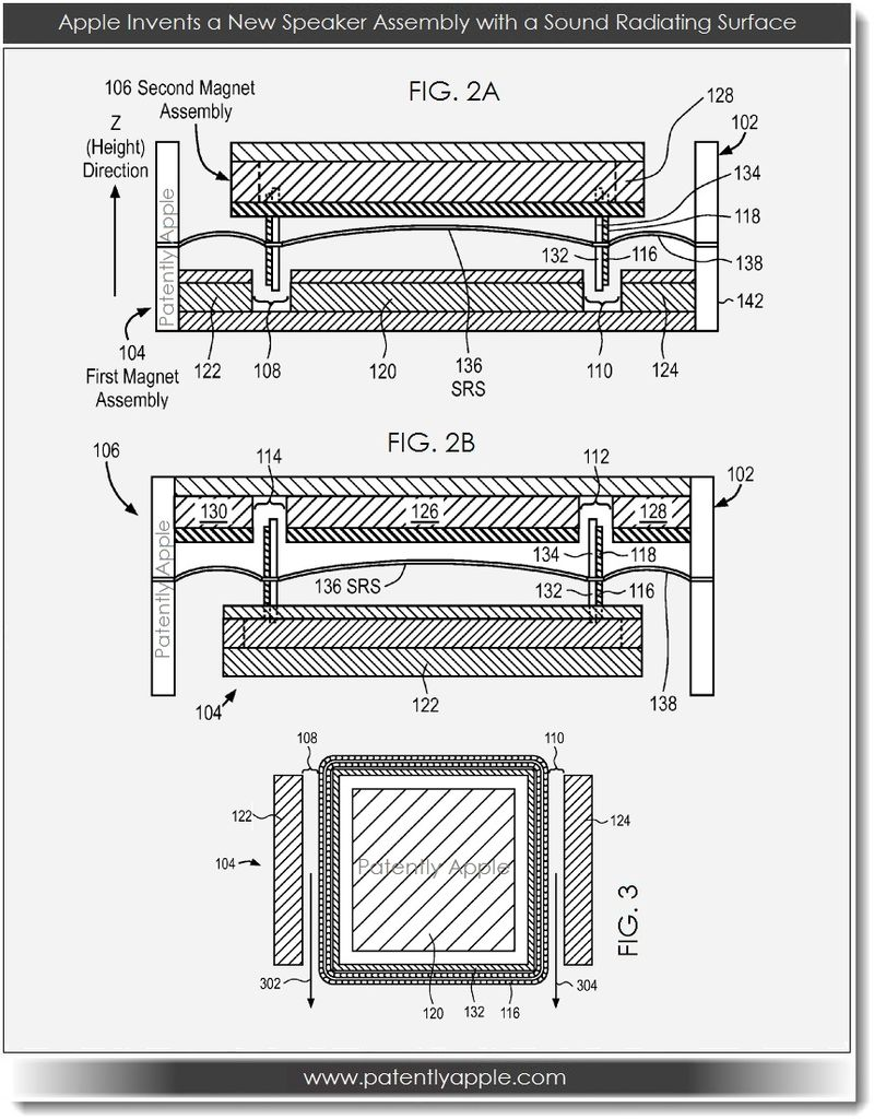 4. Apple invents new speaker with sound radiating surface figs. 2a, 2b, partial 3