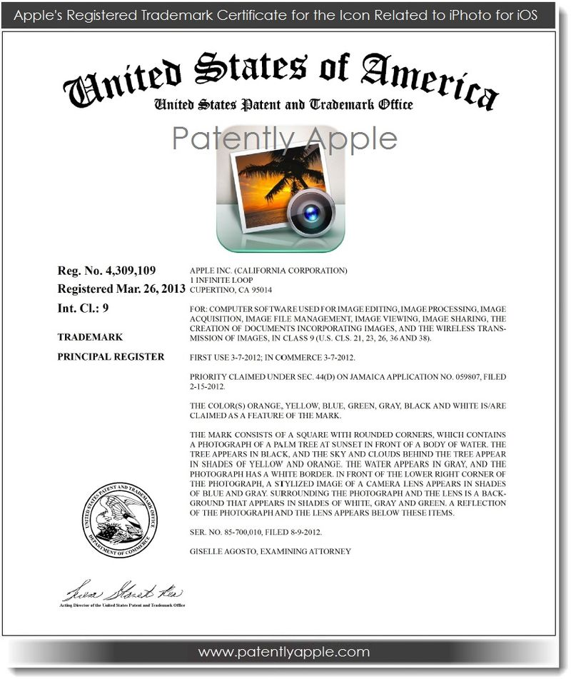2. Apple's RTM Certificate for the icon related to iPhoto for iOS