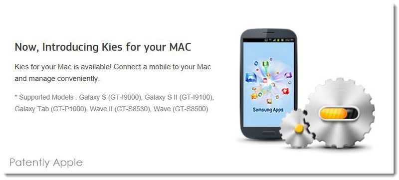 2. Samsung Kies, for Mac OS X
