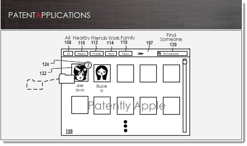 1. Cover, Apple patent for new contact GUI