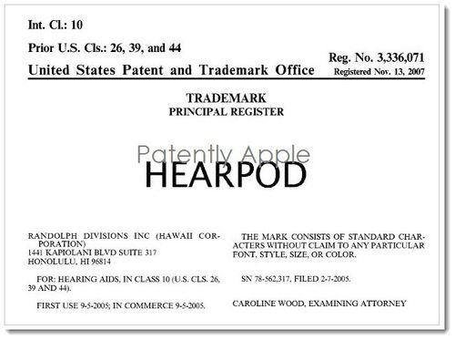 2. Hearpod RTM certificate 2007