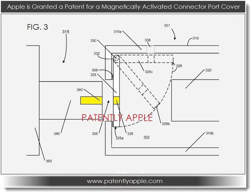 4. Apple granted patent for magnetically activated connector port cover