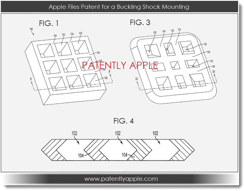7. Apple patent filing for a Buckling Shock Mounting