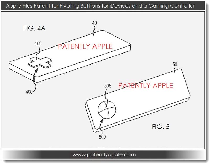 3. Apple patent for pivoting buttons