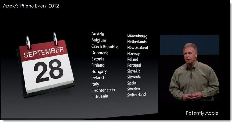 3. Second wave of countries for iPhone 5