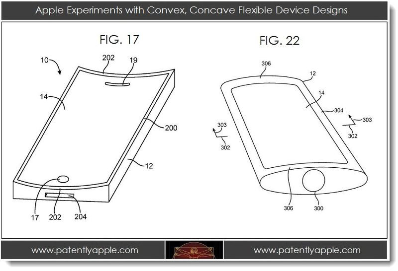 5. Apple experiments with convex, concave flexible device designs