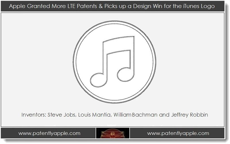 1A. Apple granted more LTE patents & picks up design patent for iTunes logo ... Steve Jobs