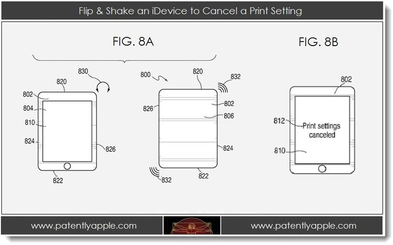 3. Flip & Shake an iDevice to cancel a print setting
