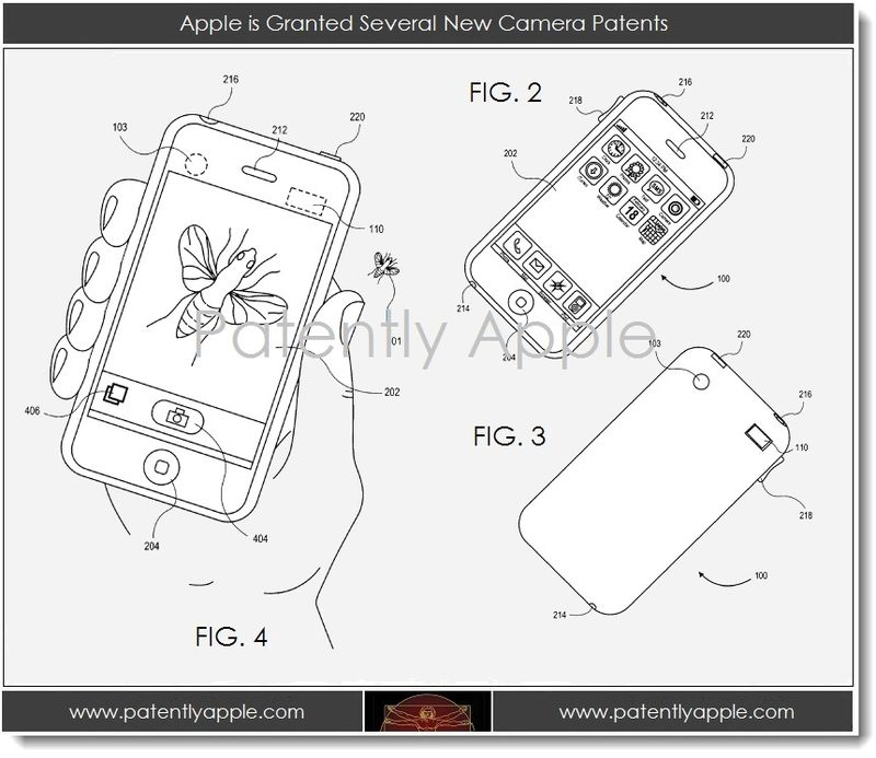4. Apple is Granted several new camera patents