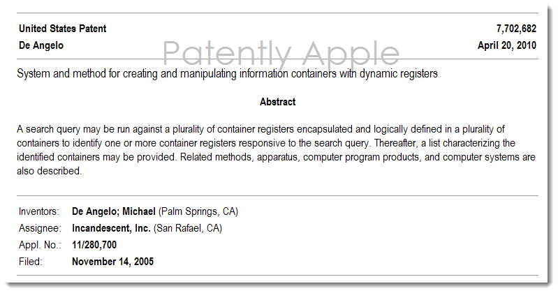 2. patent used in patent infringement case against Apple 7,702,682