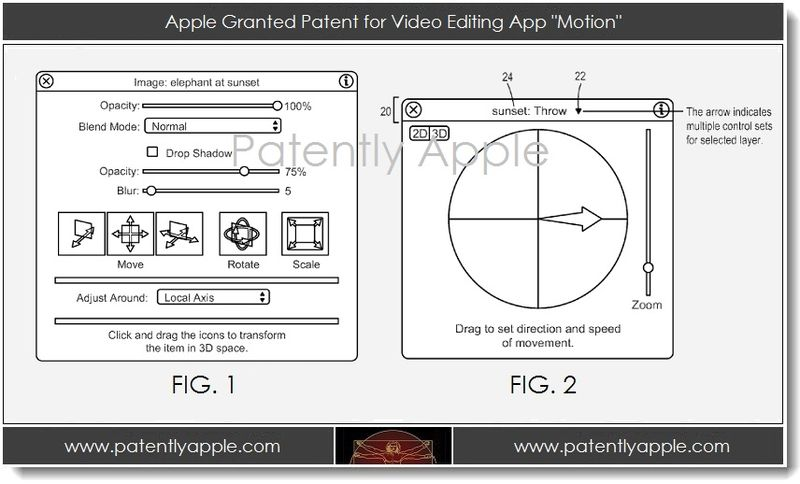 5A. Apple granted patent for video editing app Motion