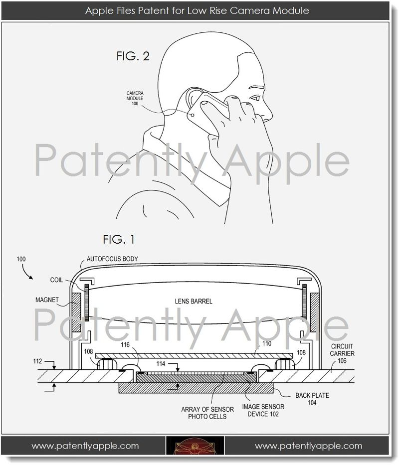 2A. Apple files for low rise camera module patent