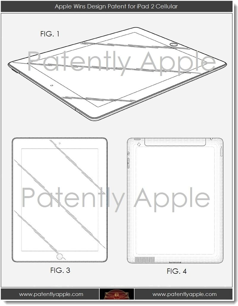 3.1 Apple design patent iPad 3 cellular