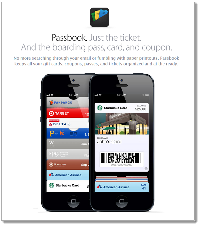 2b. Apple Passbook