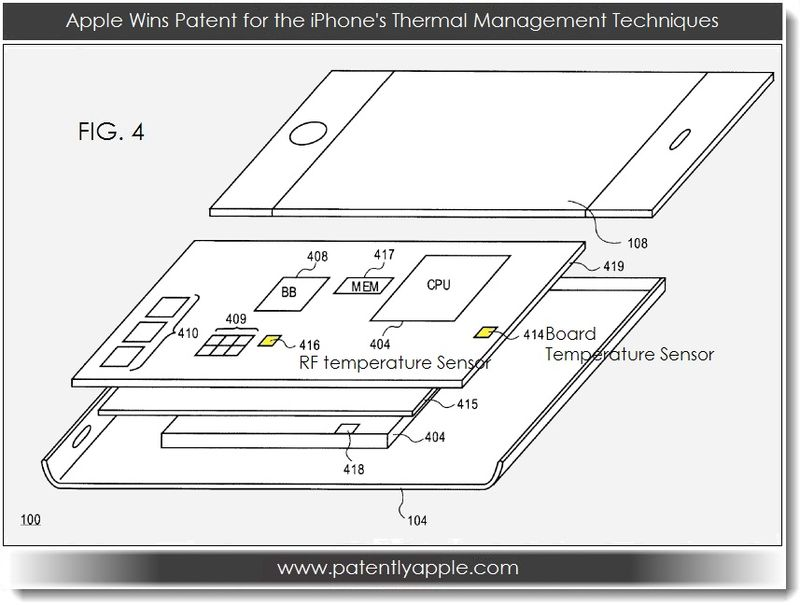 3. Apple Wins Patent for the iPhones thermal mgmt techniques