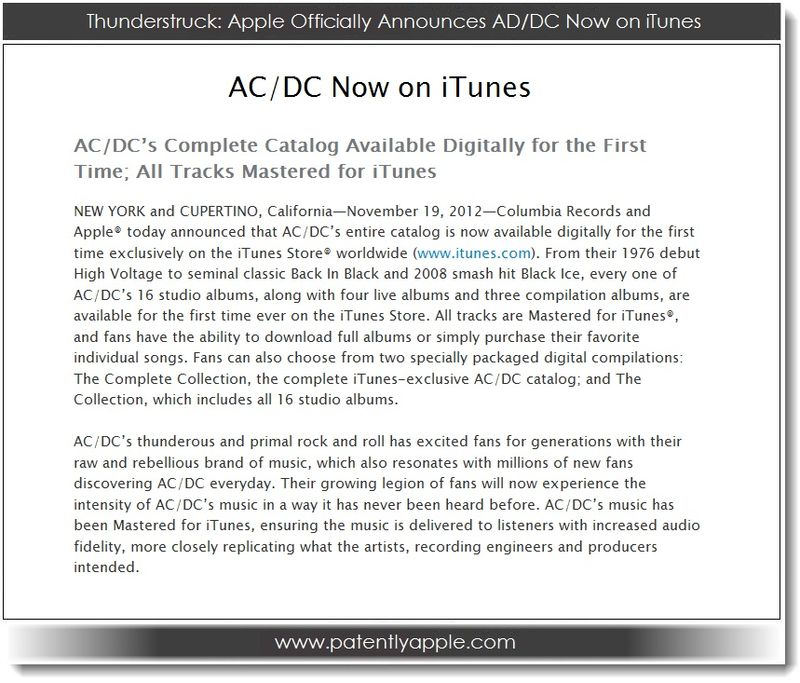 1. Thunderstruck - Apple officially Announces AC DC Now on iTunes