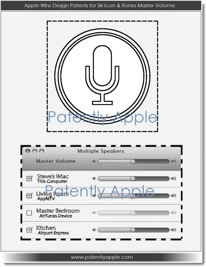 5. Apple wins design patents for Siri icon & iTunes master volume