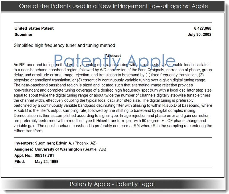 2. 1 of the patents used in new infringement case against Apple