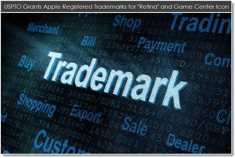 1. USPTO grants Apple Registered TMs for retina & game center icon