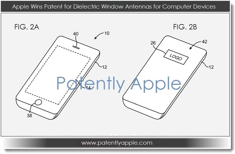 3. Apple granted patent for Dielectric Window Antennas for Computer Devices