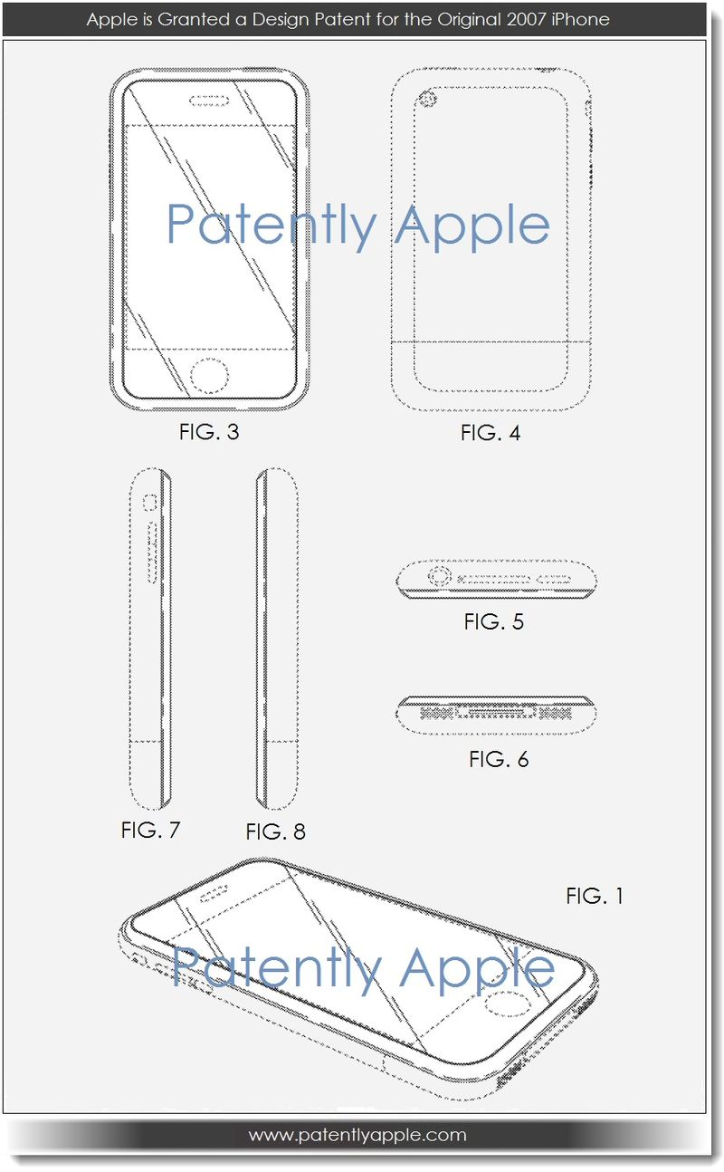 2. Apple is Granted a Design Patent for the Original 2007 iPhone