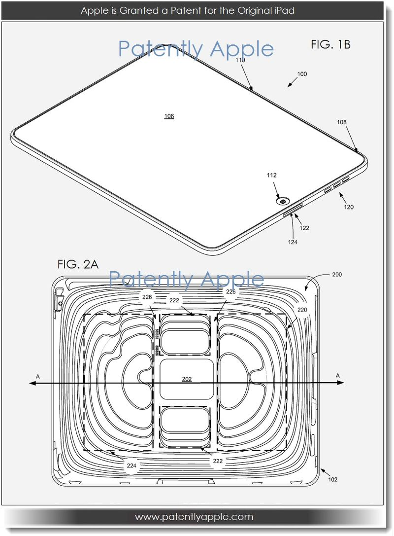 2. Apple is granted a patent for the original iPad