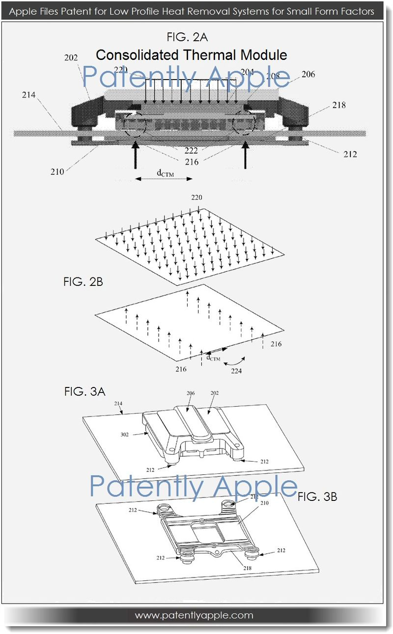 3. Apple Files Patent for Low Profile Heat Removal System for Small Form Factors