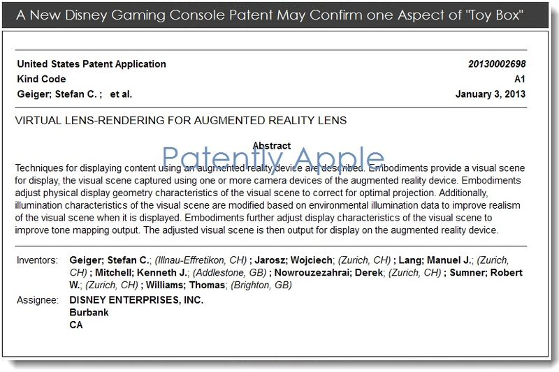 2. A new disney gaming console patent may confirm one aspect of Toy Box
