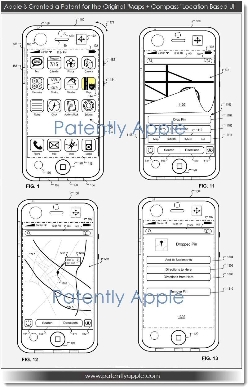 4. Apple Granted patent for originial maps + compass UI