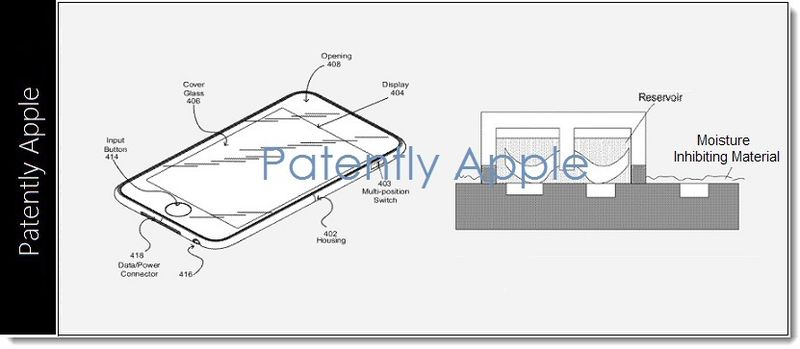 1. Apple waterproofing patent figures 2012