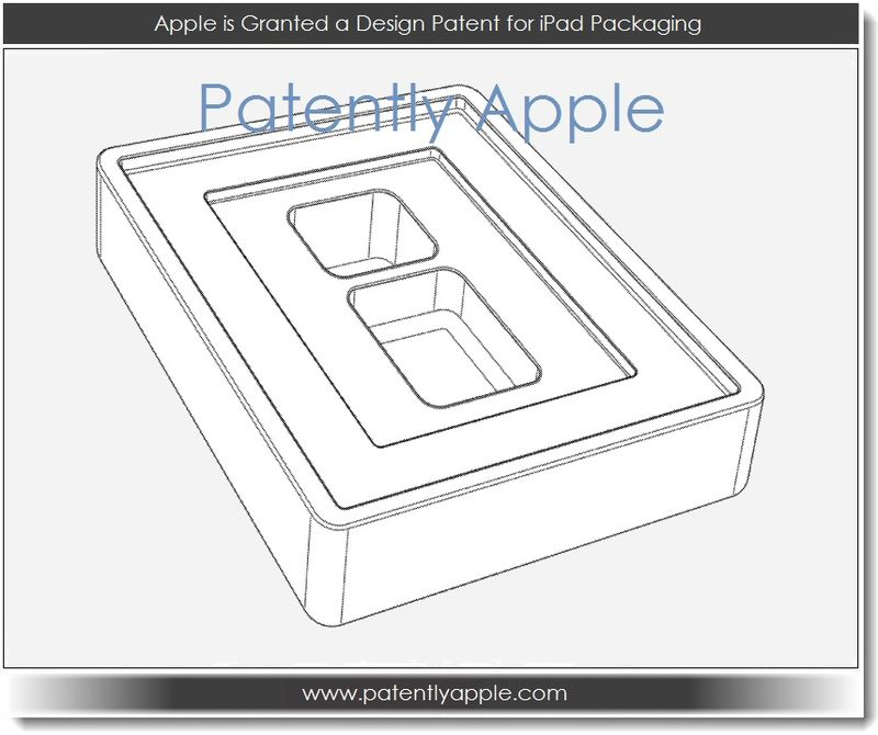 5. Apple is granted a design patent for iPad Packaging