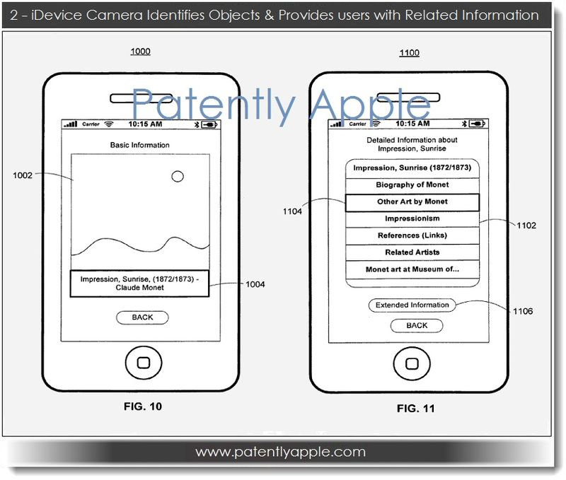3. iDevice camera ID's objects & Provides users with Related Information