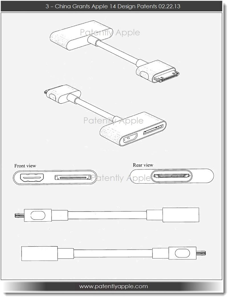 4. China Grants Apple 14 Design Patents 02.22.13